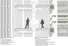 Resultado de imagen para piso tecnico detalle Rehabilitation Center Architecture, Facade, Floor Plans, Diagram, Green Ideas, Detail, Wood, Pageants, Flats