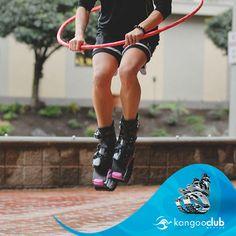 Combina tus Kangoo Jumps con el hula hoop