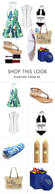 """""""brunch at the beach"""" by jma5676 ❤ liked on Polyvore featuring beauty, Penny Loves Kenny, Boohoo, Sun Bum, Straw Studios, Picnic Time and Smashbox"""