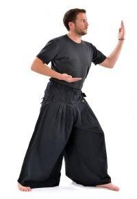 Pantalon boubou K906 - 100% coton épais double khadar du Népal. Taille unique car élastiqué au dos (36 au 44).