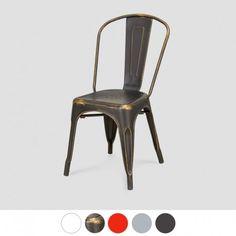 Krzesło retro do kuchni aneksu kuchennego metalowe TOLIX nowoczesne krzesło do baru restauracji pub pizzeri inspirowane projektem Marais A Chair Xavier Pauchard