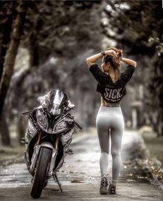 Browse our large collection of motorcycle gear! Whether you are looking for riding gloves , helmets ,bike covers, or full gear we have it all! Dirt Bike Girl, Lady Biker, Biker Girl, Motos Sexy, Motos Honda, Auto Motor Sport, Motorbike Girl, Motorcycle Outfit, Hot Bikes