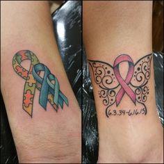 tattoo-journal | 40 Supportive Cancer Ribbon Tattoo Designs – Not just for fun | http://tattoo-journal.com