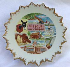 Vintage Missouri State Souvenir Collectors Plate Porcelain Made In Japan by GrammyandGrampys on Etsy
