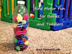 Lots of creative ways to use one basic fine motor activity to make it fun for babies and toddlers!
