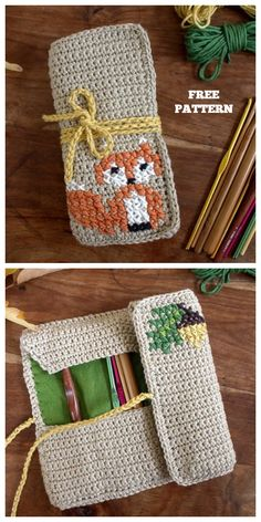 Crochet Fox Hook Case Free Crochet Pattern Best Picture For tricot et crochet For Your Taste You are looking for something, and it is going to tell you exactly what you are looking for, and you didn't Crochet Fox, Crochet Case, Love Crochet, Crochet Patterns Amigurumi, Crochet Gifts, Crochet Hooks, Crochet Hook Sizes Chart, Knitting Patterns, Tricot Simple