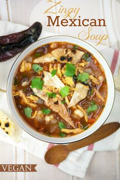 Zingy Mexican Soup | Produce On Parade