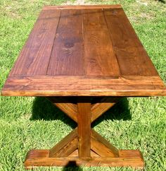 Trestle Leg Rustic Dining Table by BirdDogWoodDesign on Etsy https://www.etsy.com/listing/223281204/trestle-leg-rustic-dining-table