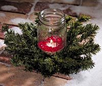 candle in jar
