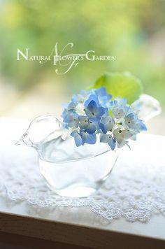 可愛い小鳥のガラスの花器♪♪
