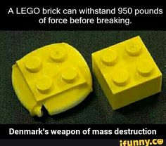 So is Denmark's house made of Legos?