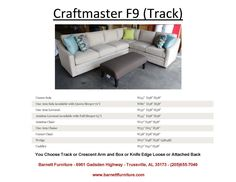 Craftmaster F9 Sectional with Track Arm You Choose the pieces to fit your space. You Choose the Fabric.