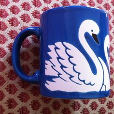 Waechtersbach Mug w Germany Color Blue with Swan