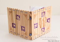 Notebook with your own hands with the cover out of Popsicle sticks / Fashion Style Diy Crafts Hacks, New Crafts, Creative Crafts, Easy Crafts, Diy And Crafts, Popsicle Stick Crafts For Adults, Popsicle Stick Art, Craft Stick Crafts, Mini Albums