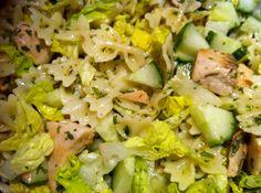 olles *Himmelsglitzerdings* Küche: Zitronennudeln mit Lachs und Salat