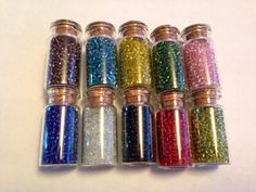 Seed Bead Filled Jars. 1 jar, SUPPLIES CRAFT. Bead yellow green blue orange  on Etsy, £1.00