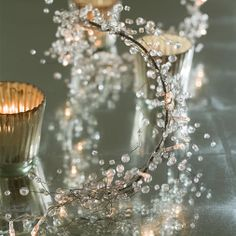 lighted crystal garland