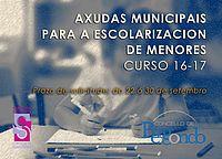 Axudas económicas para escolarización de menores do concello de Bergondo…