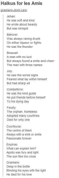 The grantaire one is perfect
