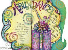 Art Journaling in Abundance, visual blessings