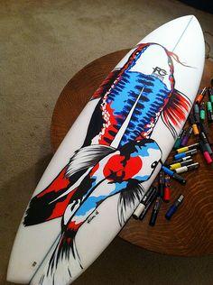Koi Surfboard Design