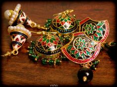 Elegant Meenakari Earrings that will add color and elegance to your attire.