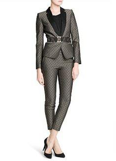 MANGO - CLOTHING - Jackets - Rhombus jacquard suit blazer