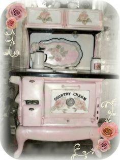 mini pink stove..Idea for coloring