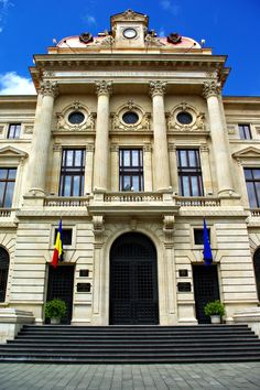 National Bank, Buhcarest, Romania. Classic Architecture, Commercial Architecture, Beautiful Architecture, Beautiful Landscapes, Interior Architecture, Places Worth Visiting, Classic Fonts, Bucharest Romania, City Break