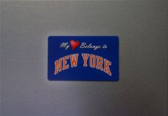 My Heart Belongs To New York (Knicks) - Sports Team Magnets - NBA Fan Magnet  #NewYorkKnicks New York Knicks, My Heart, Nba, Magnets, Basketball, Sports, Gifts, Hs Sports, Presents