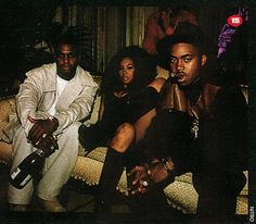 az & nas with the ch az & nas with the chick they fell out over. nas stole my mans btch but az was cool with it. nas distanced himself because he was paranoid that az meant him harm. az just wanted to make music & get paid. Hip Hop And R&b, 90s Hip Hop, Hip Hop Rap, Hip Hop Classics, Foxy Brown, Live Wire, Hip Hop Artists, My Black Is Beautiful, Rap Music
