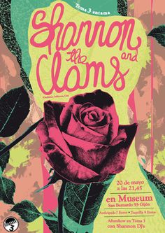 Shannon And The Clams #gigposter by Igor Casayjardin.