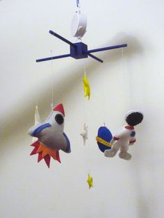 Felt Outer Space Planet Moon Rocket Stars and by ModernSimpleBaby, $72.00