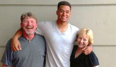 Chris Archer, Tampa Bay Rays, and his parents.