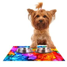 Kess InHouse Claire Day 'Sweet Sour II' Feeding Mat for Pet Bowl, 18 by 13-Inch >>> You can get additional details at the image link. (This is an affiliate link) #Catfeedingandwateringsupplies