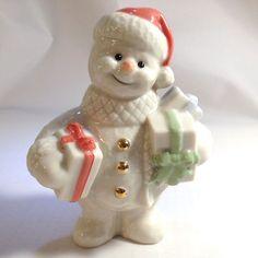 Lenox Twelve Months of Snowmen December Figurine Christmas Snowman 2000 Presents