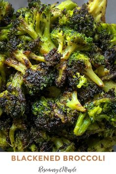 Blackened Broccoli is a simple, yet delicious side dish which comes together quickly, making it perfect for mid-week meals.  It pairs perfectly with our Sous Vide Strip Steak recipe,  along with pan-seared chicken breasts and bone-in pork chops.