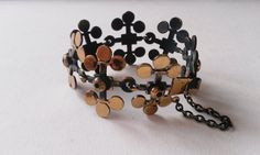 Stunning Vintage Bronze Bracelet by Pentti Sarpaneva, Finland (F283A) by LifeUpNorth on Etsy