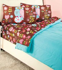 This Girls' Fun Print Sheet Set gives her everything she needs to complete her bed. It is bright, beautiful, totally her style and easily matches with her existing comforter. The soft microfiber sheets are easy care wrinkle-resistant. Polyester. Machine