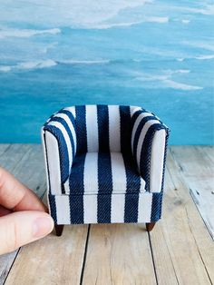 Your place to buy and sell all things handmade scale upholstered chair Miniature dollhouse furniture Old Chairs, Eames Chairs, Vintage Chairs, Upholstered Chairs, White Chairs, Lounge Chairs, Miniature Chair, Miniature Dollhouse Furniture, Dollhouse Miniatures
