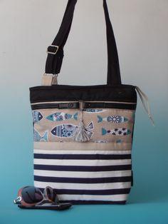 little messenger bag ...fish and tripe