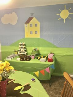Peppa Pig Birthday Backdrop