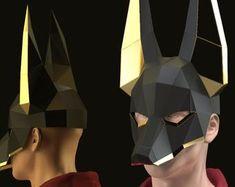 www.facebook.com/wondermingstudio by WonderMingStudio on Etsy Anubis Statue, Anubis Mask, Kitsune Mask, Paper Mache Mask, Wolf Mask, Dragon Mask, Mask Party, Diy Mask, Halloween Masks