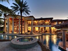 Gorgeous Mansion #classical luxury #Luxurious pool #Dream House