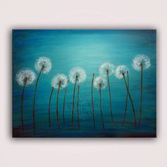 DANCING DANDELIONS Original Painting Contemporary by colorblast, $175.00