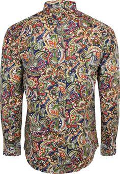 Shirt Paisley Men's Multi Blue by Relco Cheap Mens Shirts, Mens Shirts Online, Stylish Shirts, Casual Shirts For Men, Cheap Mens Fashion, Mens Fashion Wear, Best Mens Fashion, Fashion Boots, Mens Paisley Shirts