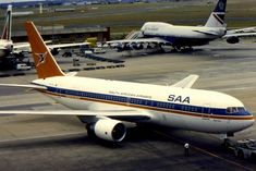 Johannesburg based South African Airways (SAA) has been flying for over 70 years. Boeing Aircraft, Passenger Aircraft, Cool Toys, Airplanes, 1990s, Over The Years, South Africa, Aviation, African