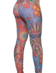 Thais Gusmão Shop - Legging Tule Tattoo Wonder Woman Thais Gusmão