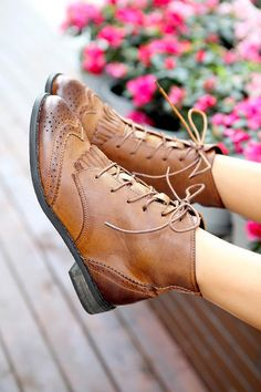Women Ladies Fashion Retro Lace Up Cut Out Stitch Detail Flat Casual Ankle Boots | eBay