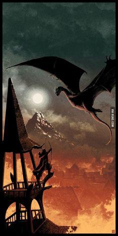 Matt Ferguson's beautiful Hobbit poster for exhibition